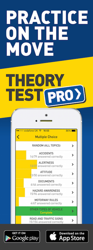 Theory Test Pro in partnership with dms school of motoring